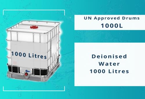Deionised Water IBC 1000 Ltrs (AC02)
