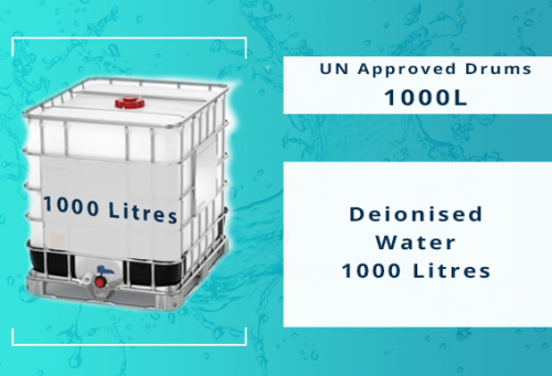 Deionised Water 1000 litres LA02